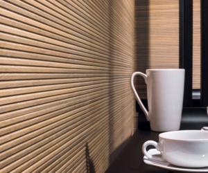 Porcelanosa Starwood: Murs imitation bois nature